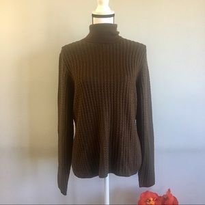 Brooks Brothers cable knit turtleneck sweater